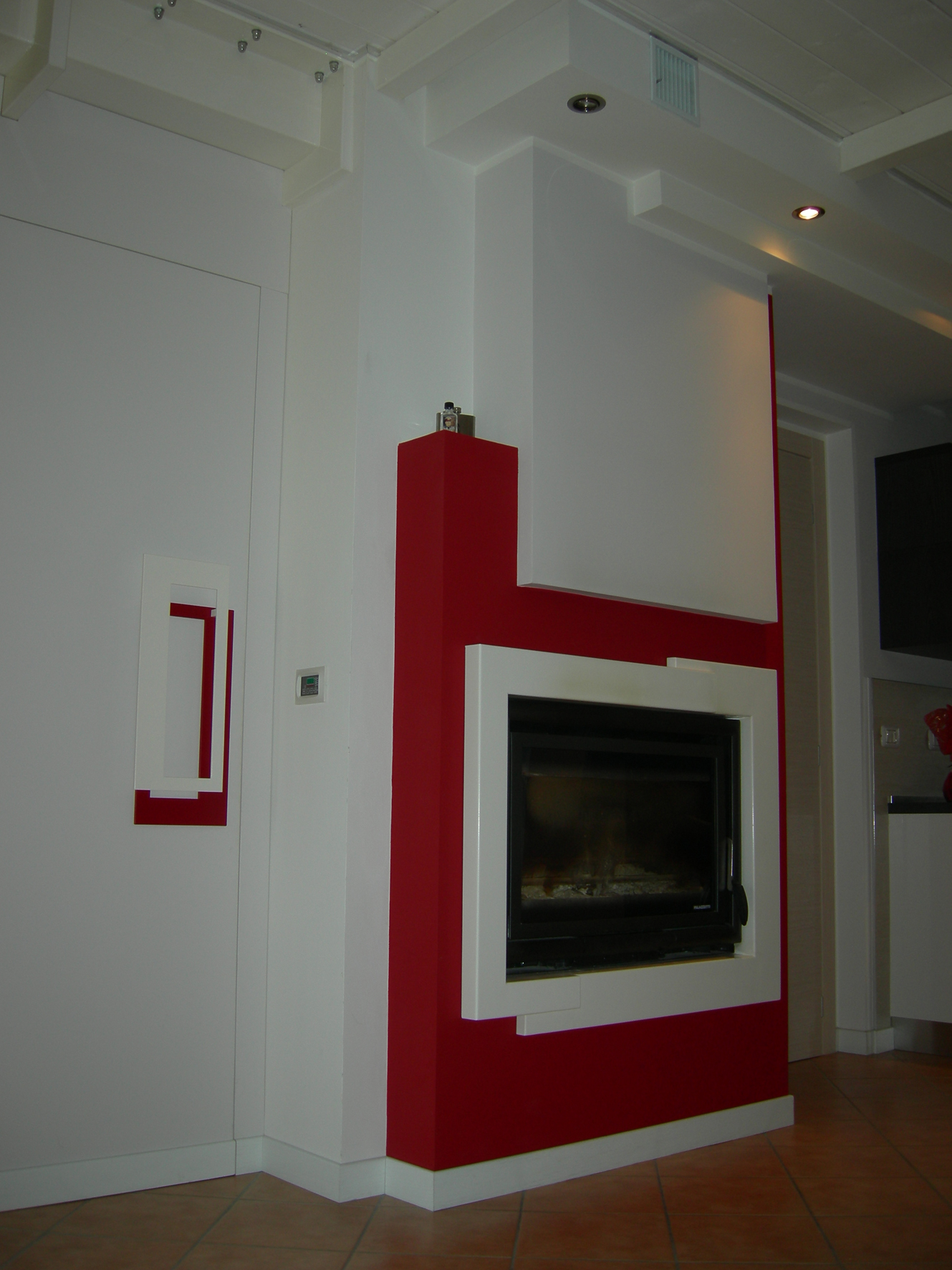 Tavolo soggiorno quadrato allungabile for Camino cartongesso